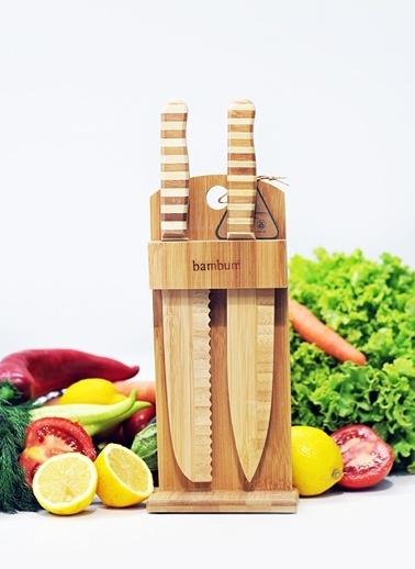 Chapati 2 Parça Standlı Bıçak Seti-Bambum